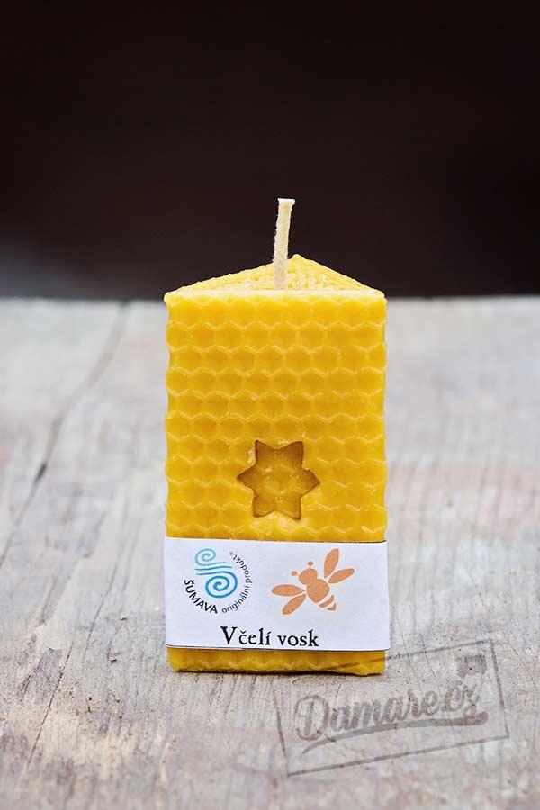 Svíčka zdobená včelí vosk
